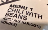 Finest cuisine by DoD – MRE Menu 1 – Chili with Beans